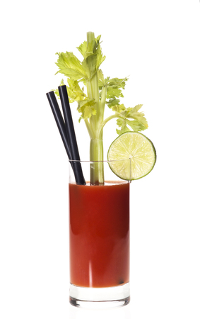 bloody mary cocktail: Bloody Mary cocktail isolated on a white background