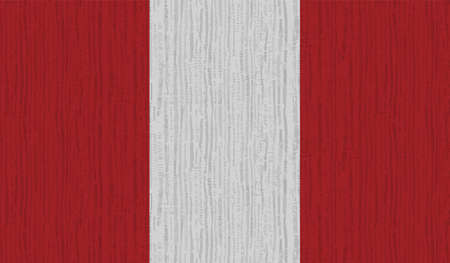 Peru flag with waving texture. Vector background.