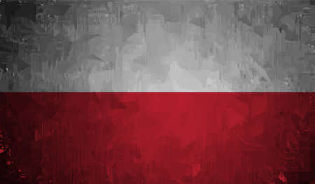 Poland grunge flag. Vector Isolated on background