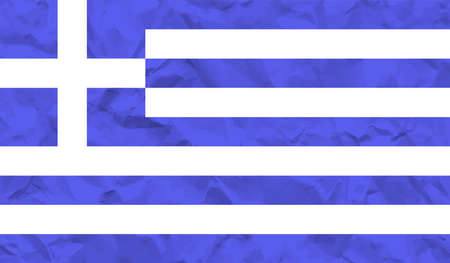 Greece flag with waving grunge texture. Vector background. 免版税图像 - 164276274