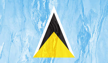 Saint Lucia flag brush stroke grunge background. Vector illustration. Illusztráció