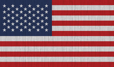 American flag. Grunge old flag USA isolated white background. Distressed retro texture. Vintage grungy dirty design. Symbol America united national freedom, patriotic 4th july Vector illustration