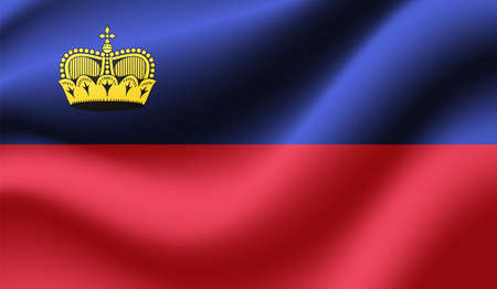 Liechtenstein grunge flag. Vector illustration. Grunge effect can be cleaned easily. Vektoros illusztráció