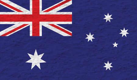 The flag of the state of Western Australia with grunge Ilustração Vetorial