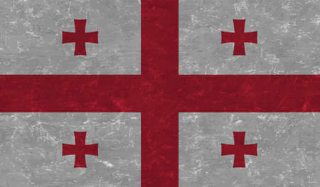Georgian grunge flag. Vector illustration. Grunge effect can be cleaned easily