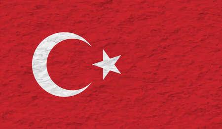 Turkish grunge flag. Turkish grunge flag. Abstract Turkey patriotic background.Abstract Turkey patriotic background. Ilustração Vetorial