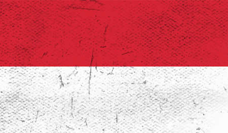 Poland flag with waving grunge texture. Vector background.