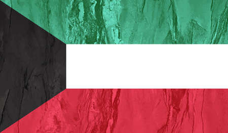 Kuwait grunge flag. Vector illustration. Grunge effect can be cleaned easily.