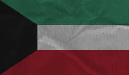 Kuwait grunge flag. Vector illustration. Grunge effect can be cleaned easily. Vektoros illusztráció