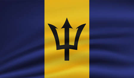 Barbados grunge flag. Vector illustration. Grunge effect can be cleaned easily.