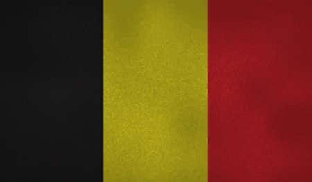 Grunge Belgium flag textured background. Vector illustration