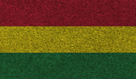Bolivia national flag created in grunge style