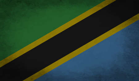 The flag of the African country Tanzania