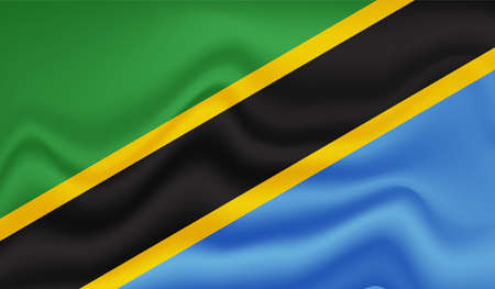 The flag of the African country Tanzania Vektorgrafik