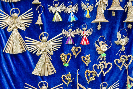 manually: Figures woven manually angels mascots defenders against evil forces Stock Photo