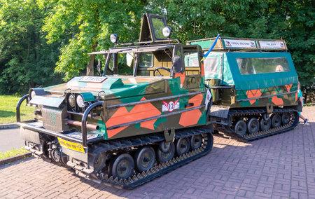 lemberg: Lviv Ukraine June 2015: Auto festival Leopolis grand prix 2015. Old vintage retro military car Volvo