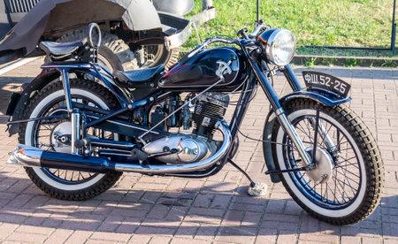lemberg: Lviv Ukraine June 2015: Auto festival Leopolis grand prix 2015. Old vintage retro moto bike