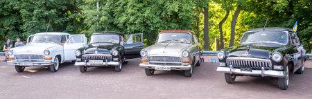 lemberg: Lviv Ukraine June 2015: Auto festival Leopolis grand prix 2015. Old vintage retro cars Volga