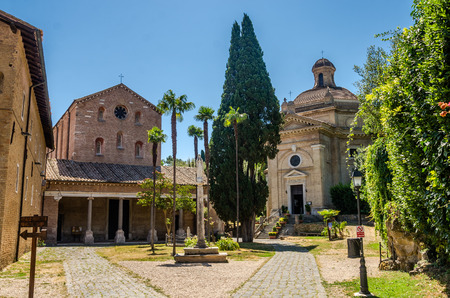 The building of the Church of the Abbazia delle Tre Fontane, in the martyrdom of the apostle Paul in Rome, Italy