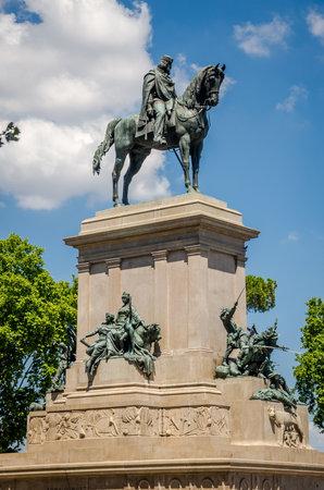 Monument to Giuseppe Garibaldi Italy, Rome Editorial