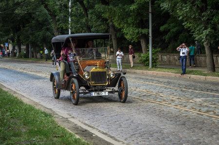 LVIV, UKRAINE - JUNE 2018: Old vintage retro car