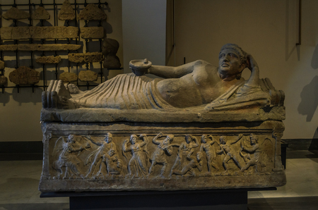 ROMA, ITALY - AUGUST 2018: Ancient Vatican Museum Editorial