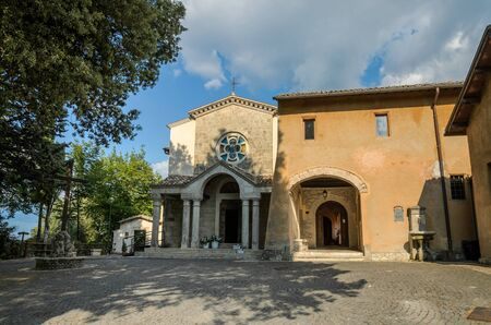 ROMA, ITALY - JULY 2019: An old antique church in Italy where St. Francis of Assisi made his pilgrimages
