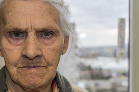 Portrait of an elderly woman Archivio Fotografico
