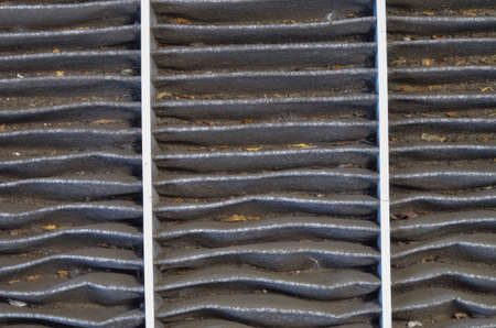 Dirty used car carbon cabin filter