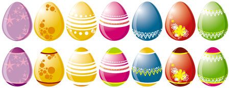 The painted easter eggs