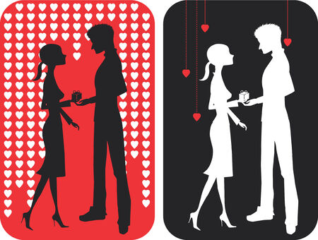 pair of falling in love Stock Vector - 4297785