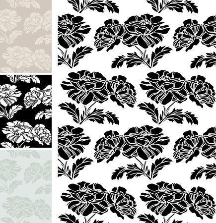 Seamless wallpaper with flowerings maquis Illustration