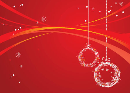 newyear: new-year and christmas background of red color Illustration