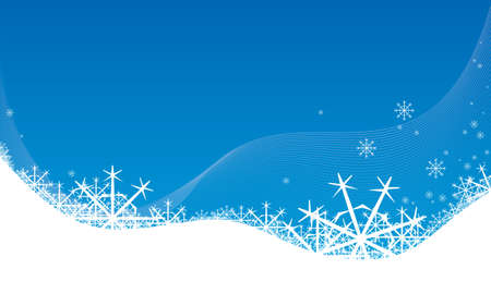 newyear: new-year background with snowflakes Illustration