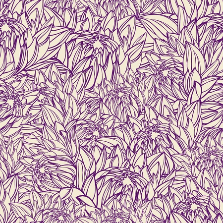 Floral seamless pattern in retro style  Illustration