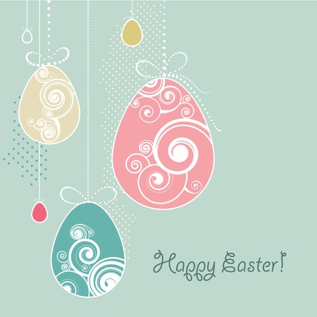 Easter background in retro style Vector