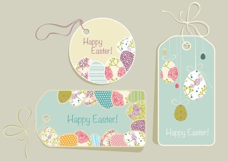 tags with Easter eggs Vector