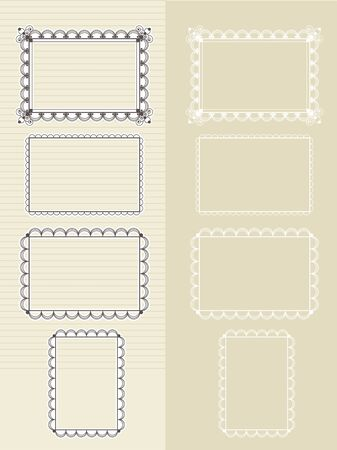 set of frames for photos and pictures Vector