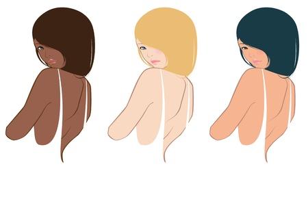 peluqueria: Conjunto de retratos de mujer bonita