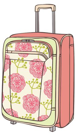 suitcase for traveling with a flower pattern Stock Vector - 13583923