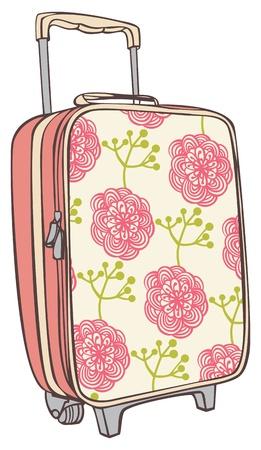 maletas para viajar con un patrón de flores