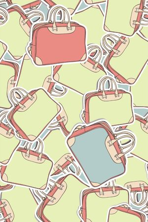 Seamless pattern of the travel bags Vector