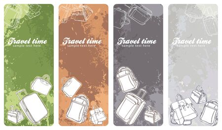 set of colorful travel vertical banners Vector