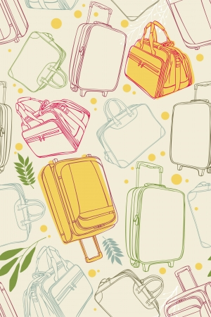 Seamless pattern of the suitcases Illustration