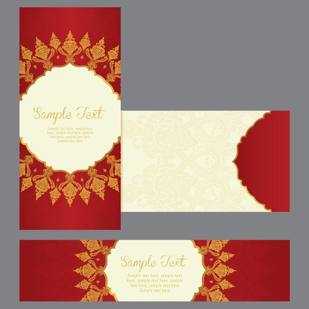 arabic motif: greeting cards with floral motifs in east style