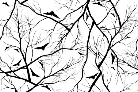 dead wood: halloween background of forest image