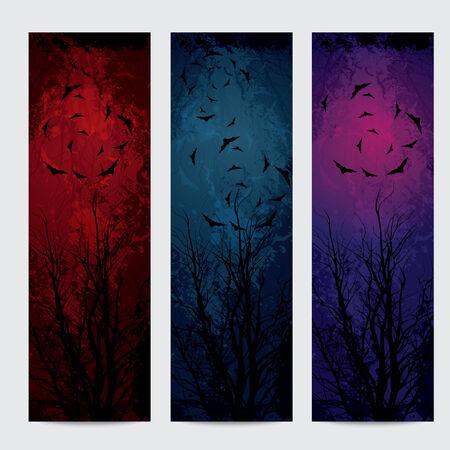 Halloween vertical banners set  Vector