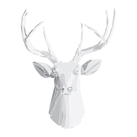 Deer head isolated on white background vector eps10