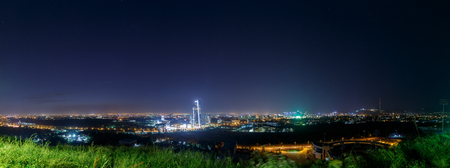 Panorama of night Almaty