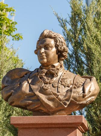 statesman: Simferopol, Crimea - May 9, 2016:  Serene Highness Prince Grigory Potemkin-Tauride (1737-1791), Russian statesman of the times of Catherine II